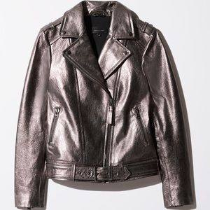 Mackage for Aritzia Metallic Leather Jacket - NWT
